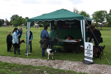 Dog registering for our dog walk